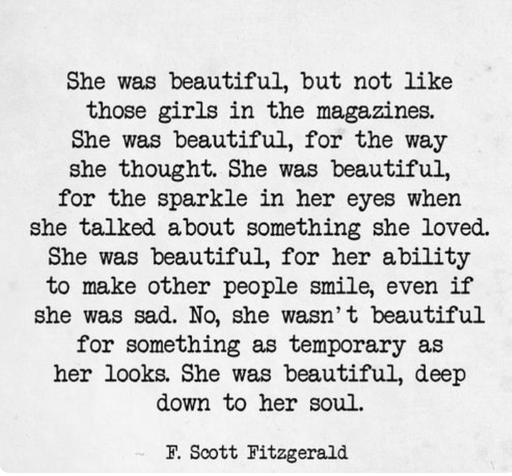 She was beautiful…